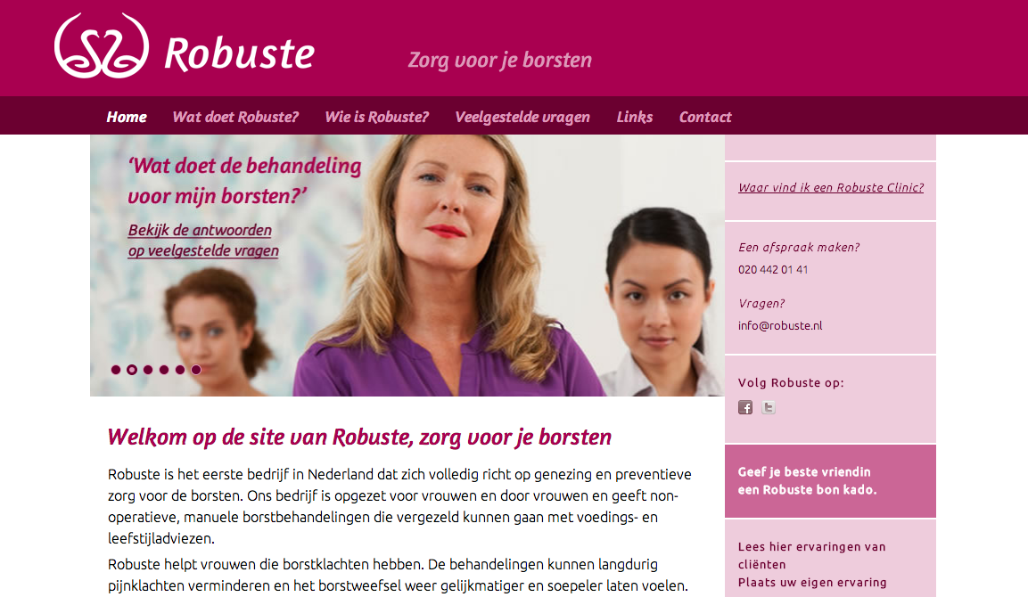 Robuste WordPress website