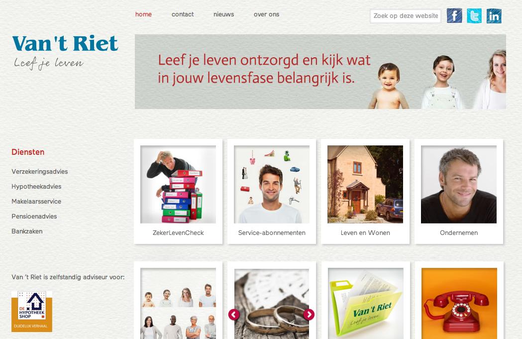 WordPress website van t Riet